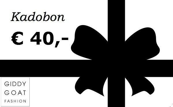Kadobon €40,-