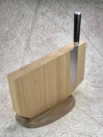 Magnetic knife block up to 8 knives -Cherry wood and walnut - (Sakuranbo Okashī)