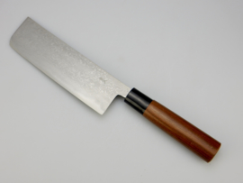 Tosa Matsunaga Aogami damascus Nakiri Jigata (vegetable knife), 165 mm