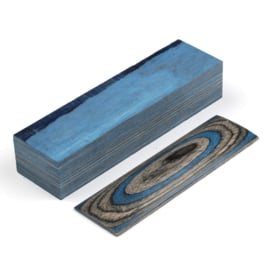 Pressed Plywood (pakkawood) 120*40*30mm, Blue-Black