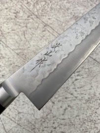 Hounen Kozan-saku (光山作) Ginsan #3 Kiritsuke bunka Sanmai, Westers Pakka hout  -210 mm-