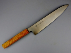 Konosuke GS+ gyuto (chef's knife), 240 mm, Khii Chestnut -saya-