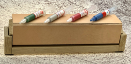 4 sided stropping wood - leather - incl. sharpening paste