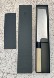 Konosuke Suminagashi VG-10 Wa-Nakiri (groentemes), 180 mm - Octagonaal Honokihout - Saya