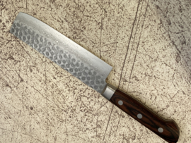 Kagemitsu Senshi VG-10 Tsuchime damascus Nakiri (Vegetable knife)