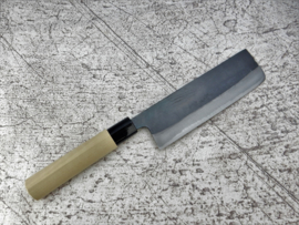 Tosa Amakuni Shirogami #2 Nakiri kuroishi (vegetable knife), 165 mm