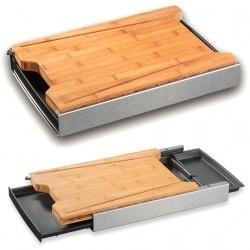 Schneidbox Multi-Function Cutting Board - Bamboo - Shelf Only!