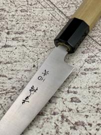 Konosuke HD-2 Wa-Petty (office knife), Octagonal handle, Honoki/horn, 180 mm -Saya-