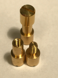 Corby bout (Corby Style Bolt) -Messing- 6.8mm x 5mm