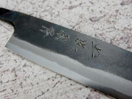 Kagemitsu Amefuri, Petty (officemes), 150 mm, Sanmai, Aogami #1 kern, -non-stainless cladding - geslepen.
