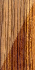 Zebrano hout (Zebra Wood), - recht -