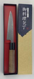 Tosa Matsunaga Aogami damascus petty (office knife), 120 mm