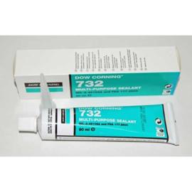 Afdichtingsmiddel/lijm, Dow Corning 732 -transparant- 90 ml