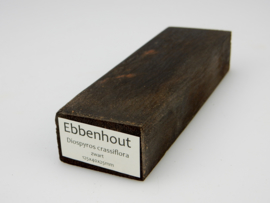 Ebbenhout (Diospyros ebenum), zwart,  -homogeen-