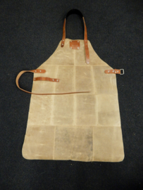 Leather apron -camel-