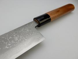 Tosa Matsunaga Aogami damascus Kiritsuke (universeel mes), 210 mm