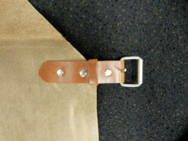 Leather apron -camel-