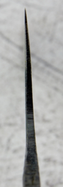 Kagemitsu Amefuri, santoku (universeel mes), 180 mm, Sanmai, Aogami #1 kern, -non-stainless cladding - geslepen.