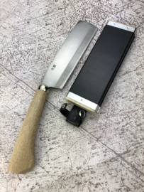 Tosa Engei Takewari Nata SK-5 (snoeimes), 180 mm - hakbijlvorm dubbelzijdig -