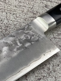 Hounen Kozan-saku (光山作) Ginsan #3 Santoku Sanmai, Westers Pakka hout  -180 mm-