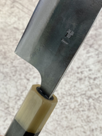 CUSTOM Kagemitsu Amefuri Kurouchi Aogami #1 Santoku (universeel mes), 180 mm