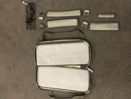 Luxe messentas, Cordura nylon met handvat - 2 maten -