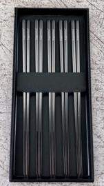Kagemitsu 金属 Kinzoku Aziatische eetstokjes -set van 5- RVS zwart