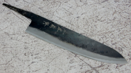 Kagemitsu Amefuri, Gyuto, 240 mm, Sanmai, Aogami #1, -non-stainless cladding - sharpened.