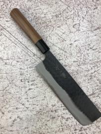 Shinji Fujishita Black Tsuchime, Aogami, Nakiri (groentemes), 180 mm
