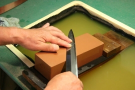 Sharpening - double sided knives-