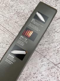 Nisaku Tomita Japans Hori Hori mes - Half gekarteld - [No.6500]
