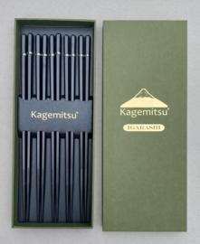 Kagemitsu Igarashi Aziatische eetstokjes -set van 5- zwart composiet
