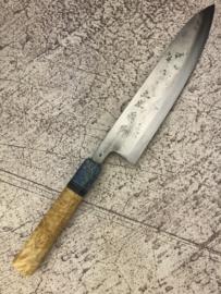 CUSTOM Kagemitsu Amefuri Kurouchi Aogami #1 Gyuto (chefsmes), 210 mm