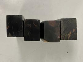 Macassar Ebbenhout (Coromandel) Zwart/bruin - recht -