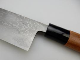 Tosa Matsunaga Aogami damascus Santoku (universeel mes), 180 mm
