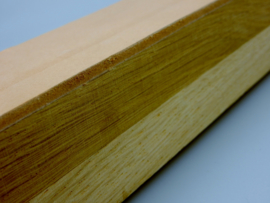 Leather Strop on wooden base -Handmade in own workshop-