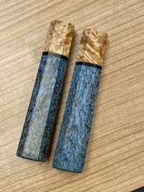 Traditional octagonal Maple burlwood handle - (size M) - black spacer-