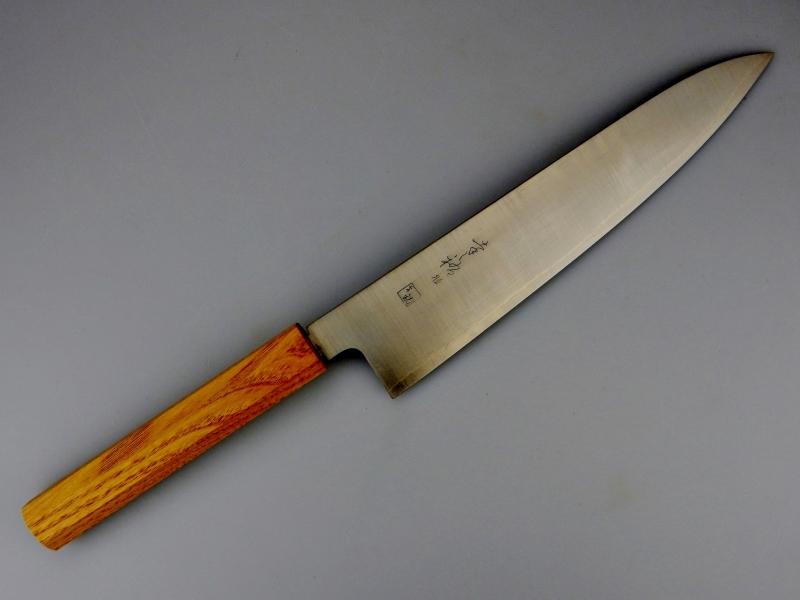 Konosuke GS+ gyuto (chefsmes), 240 mm, Khii Kastanjehout -saya-