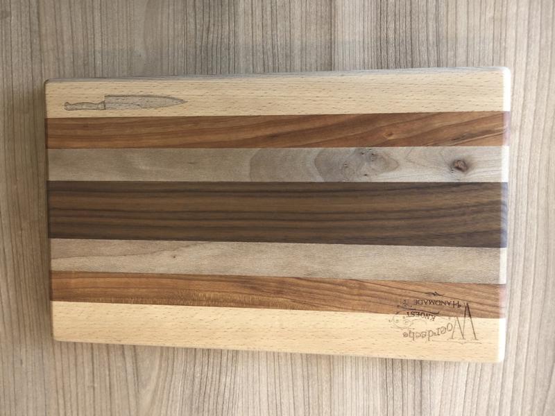 Snijplank (Wenge/Beuken/Eik/walnoot)