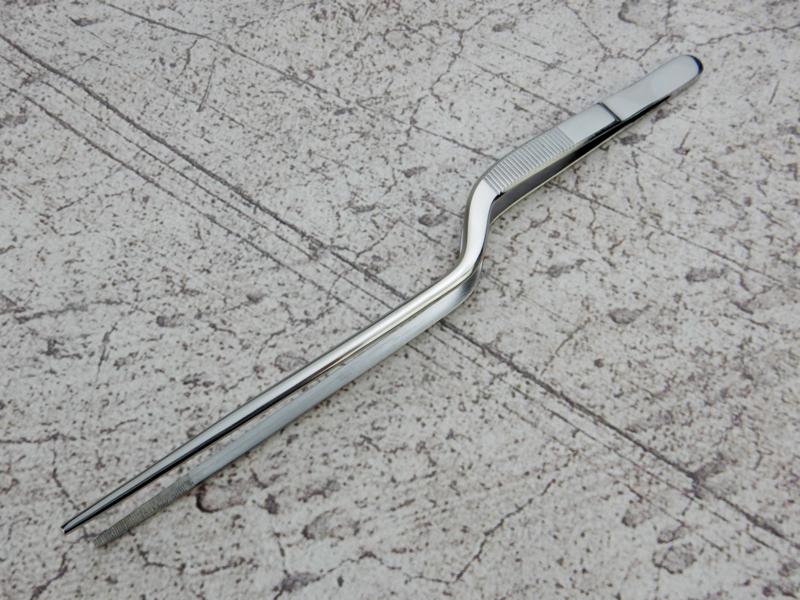 Kagemitsu RVS sushi tweezers, rounded tip 20cm -polished-