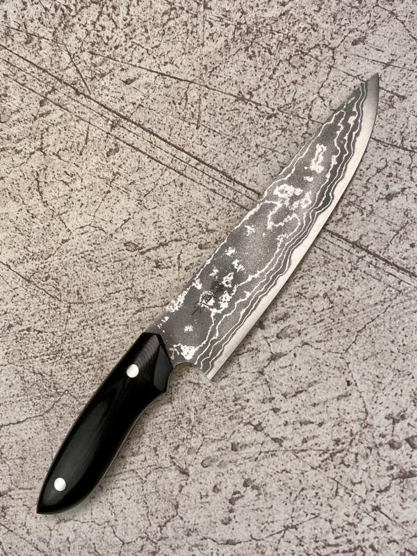 Kazuo Nomura Gyuto (chefsmes), 180 mm - zwart Micarta -