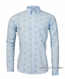 Laksen overhemd Pheasant Light blue