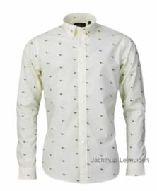 Laksen overhemd Fheasant Cream