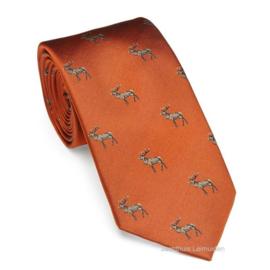 Laksen stropdas Deer Blood Orange