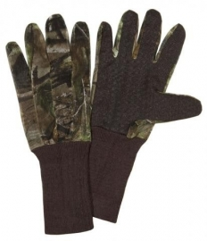 Net camouflage handschoen