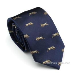 Laksen zijden stropdas Driven Wild Boar