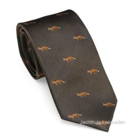 Laksen zijden stropdas Fox