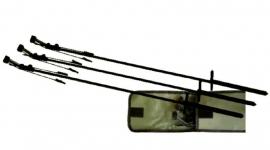 Bouncher (zwieper) per 3 stuks in foudraal, in hoogte verstelbaar