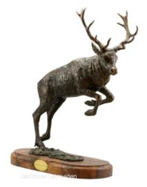Bronzen beeld Sauer: Vluchtend hert