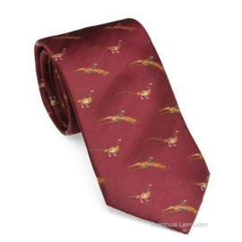 Laksen stropdas New Pheasant Vintage Red